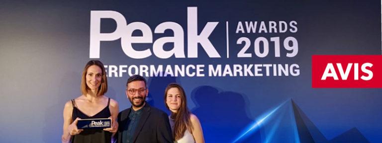 Διπλή διάκριση της Avis στα PEAK Performance Marketing Awards