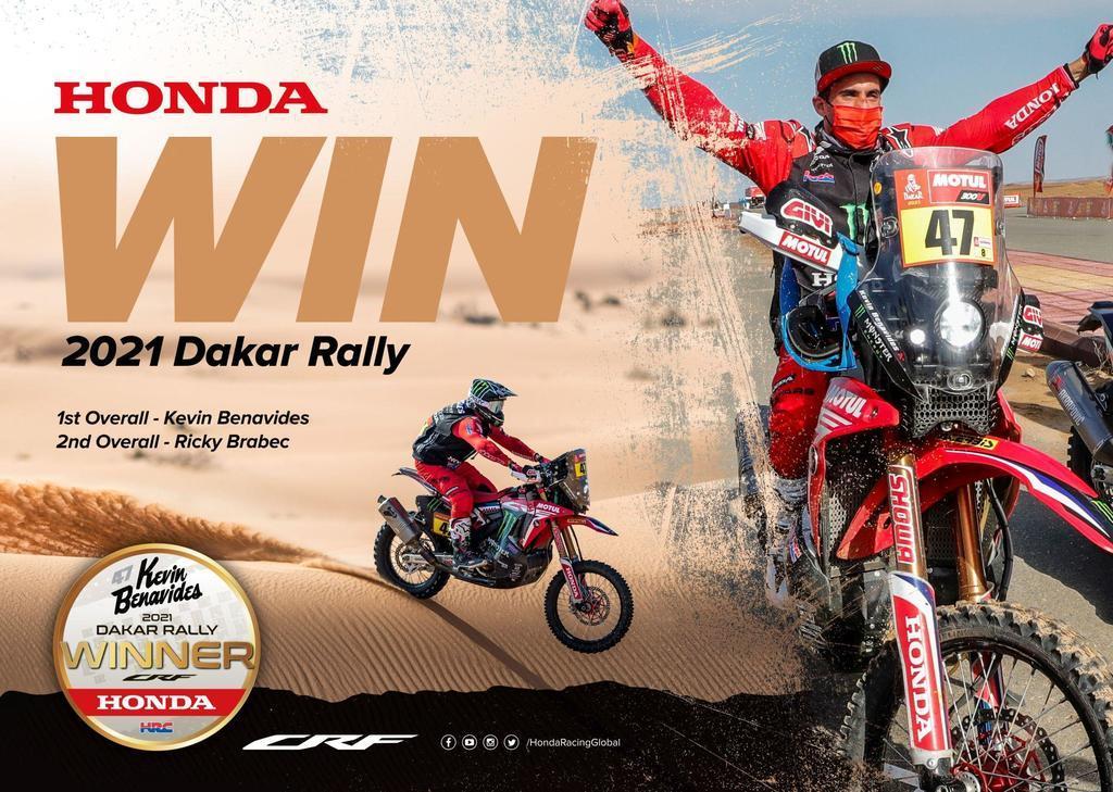 Θριαμβευτική Διπλή Νίκη για την Honda στο Ράλλυ Ντακάρ του 2021